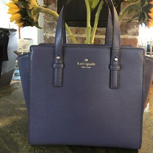 Kate Spade Oyster Blue Grand Street Hayden Satchel